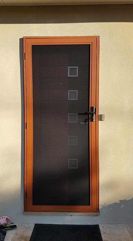 3 Point Lock Wood Style Frame Security Door